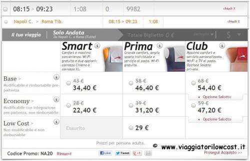 10 codici promo Italo Treno viaggi low cost
