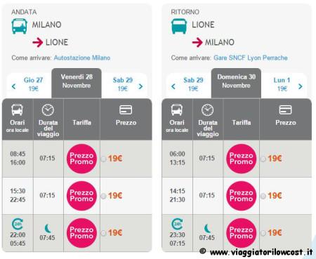 biglietti autobus low cost per la Francia