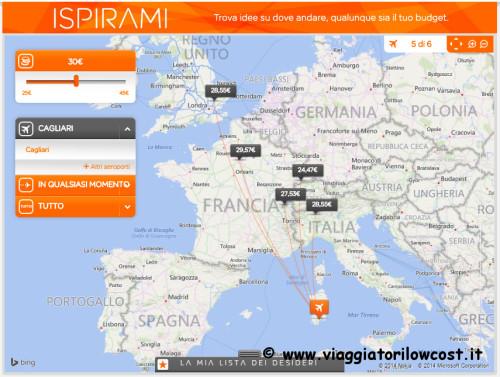 Voli low cost easyJet per l'Italia