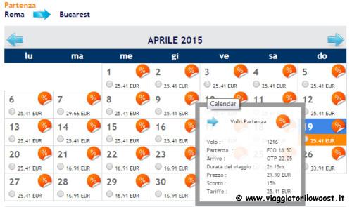 Voli low cost per la Romania 2015