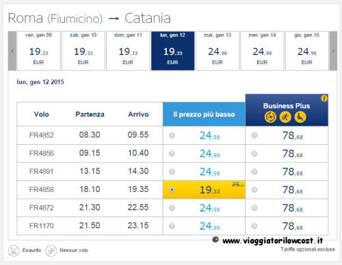 voli low cost Ryanair viaggi low cost