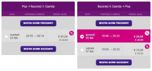 voli low cost per la Romania,promo di Wizzair
