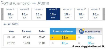 voli low cost da Roma per l'Europa