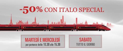 Italo Special Sabato per viaggiare low cost