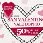 Promo San Valentino di Italo: 50% di sconto se viaggi in 2