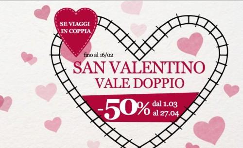 San Valentino Biglietti Italo scontati del 50%