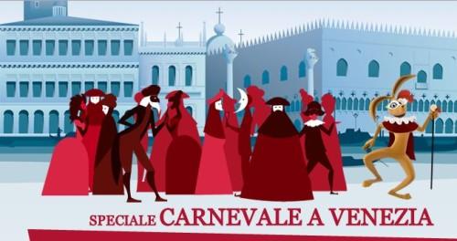 Speciale Carnevale a Venezia codice sconto Italo Treno