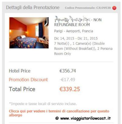 codice sconto hotel di Otel.com