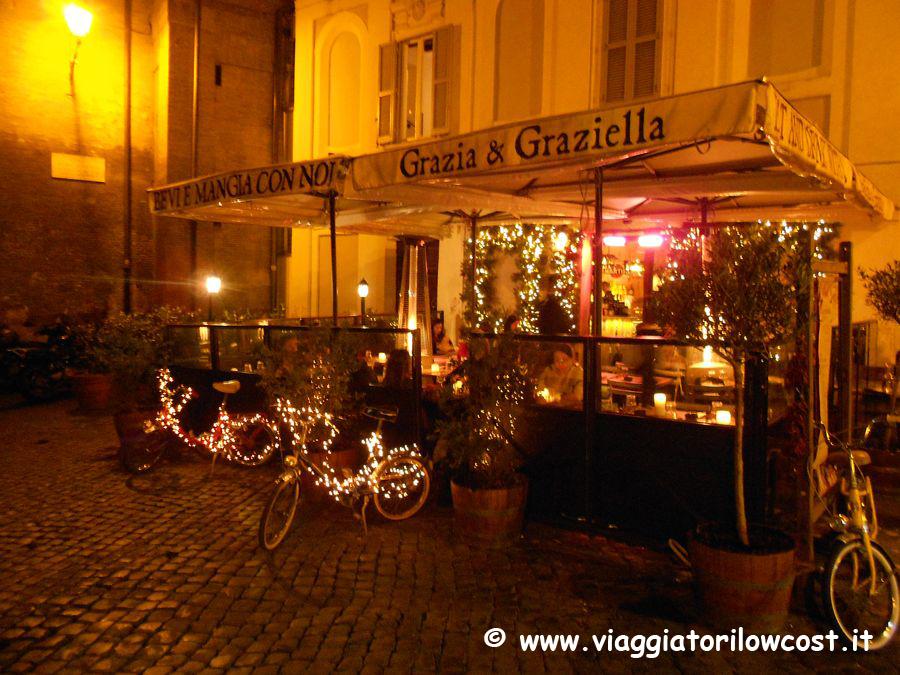Grazia e graziella a roma un bel ristorante a trastevere for Mobili low cost roma