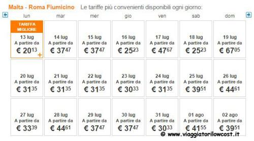 voli per Malta economici e low cost