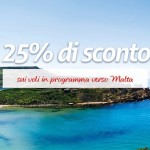Voli per Malta scontati del 25% in primavera ed estate 2015