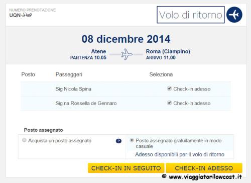 Web Check-in Ryanair check-in adesso