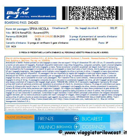 Come fare check-in online Blue Air