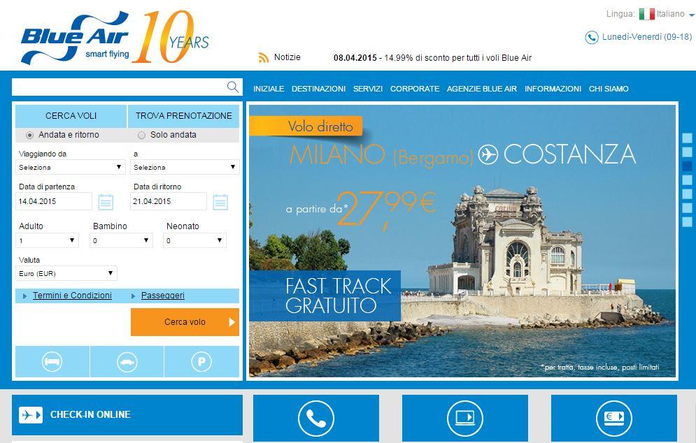 Come fare il check-in online Blue Air: info ed istruzioni