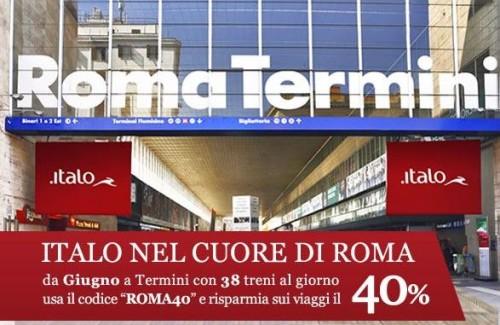 codice Italo viaggi low cost Roma