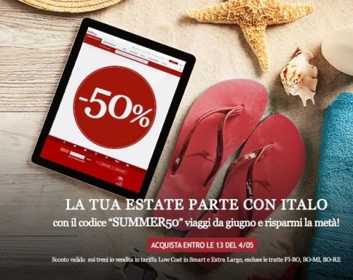 Promo Italo Codice sconto Italo Estate 2015