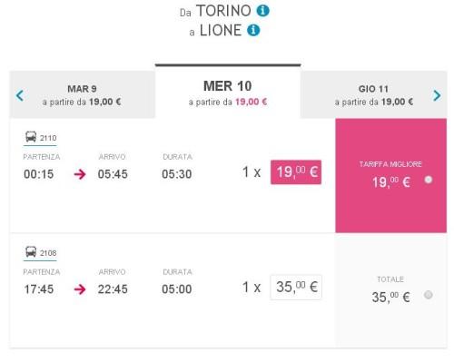 viaggi autobus Lione Marsiglia e Parigi