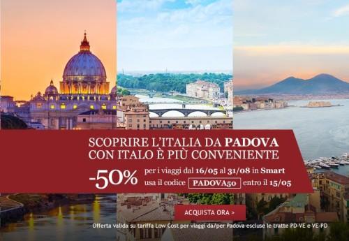 codice sconto Italo viaggi low cost a 3€