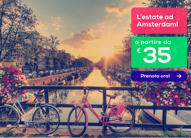Voli low cost per francia e olanda da 25 anche ad agosto for Ostelli economici ad amsterdam