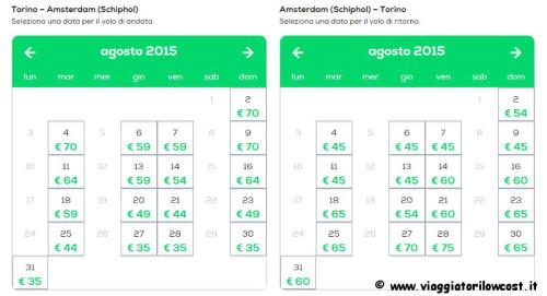 voli low cost Amsterdam e Parigi Offerta Transavia