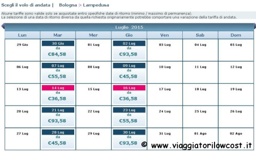 Voli low cost per Lampedusa estate 2015