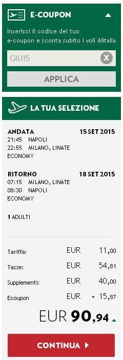 Alitalia coupons codes