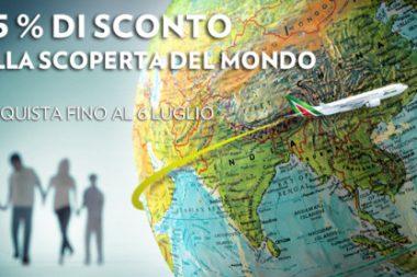 codice sconto Alitalia voli intercontinentali