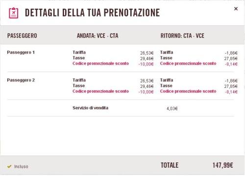 codice Volotea voli low cost Italia e Europa
