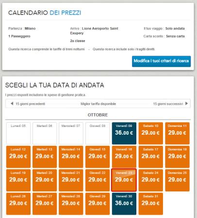 Biglietti low cost Milano Lione in treno