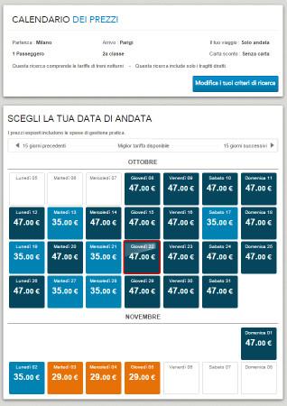 Biglietti low cost Milano Parigi in treno
