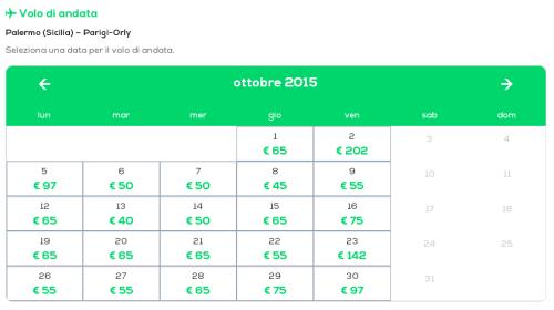 Voli low cost per Parigi da Palermo