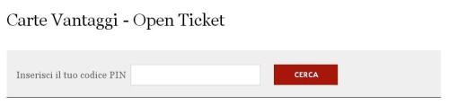 Servizio Open Ticket Italo Treno Form