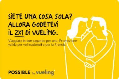 Voli low cost Vueling Promo 2x1