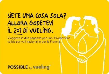 Voli low cost Vueling Promo 2x1