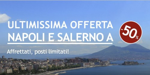 Codice sconto biglietti Italo per Napoli e Salerno