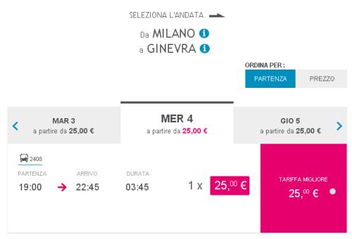 Biglietti autobus low cost per Ginevra