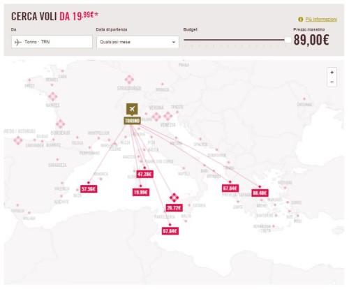 come trovare un volo low cost da Torino