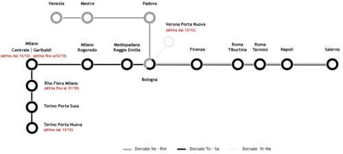Biglietti italo Treno Napoli Verona mappa percorso