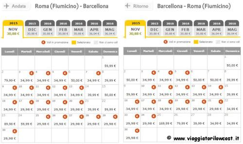 voli economici Vueling Roma Barcellona in promozione