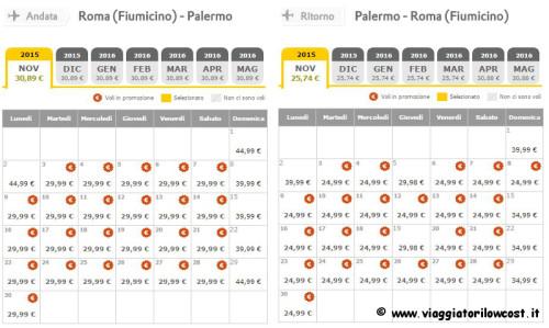 voli economici Vueling Roma Palermo in promozione