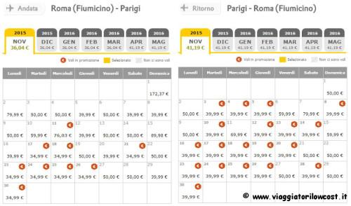 voli economici Vueling Roma Parigi in promozione