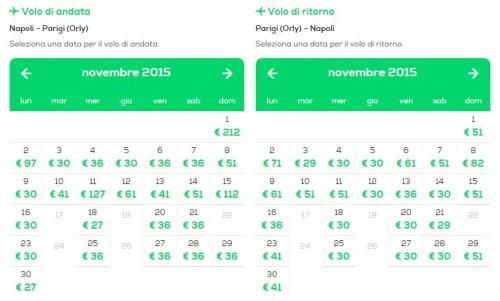Voli low cost per Parigi da Napoli