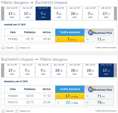 Voli low cost Ryanair per Bucarest