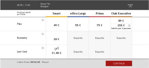 Biglietti Italo low cost Roma Bologna