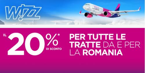 Promo voli economici per la Romania di Wizzair