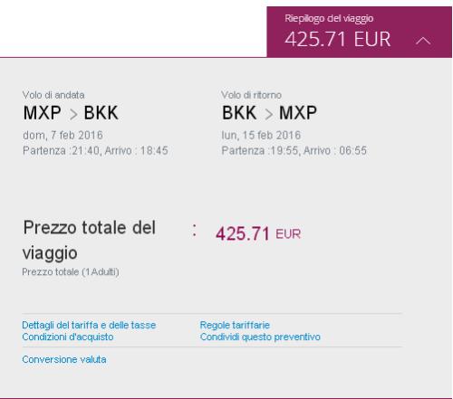 voli economici Milano Bangkok di Qatar Airways