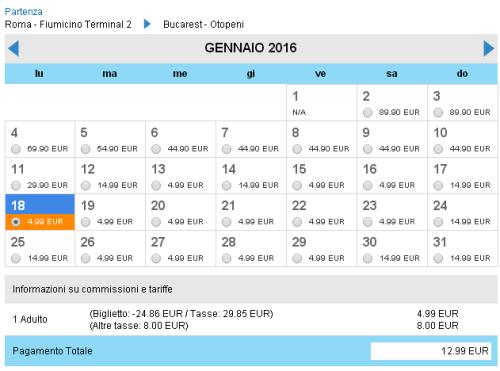 voli low cost per Bucarest da Roma