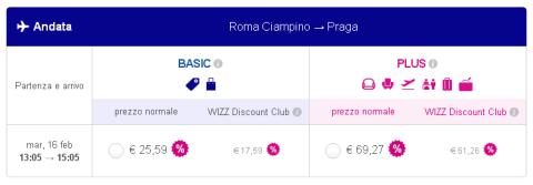 Voli low cost Roma Praga di Wizzair