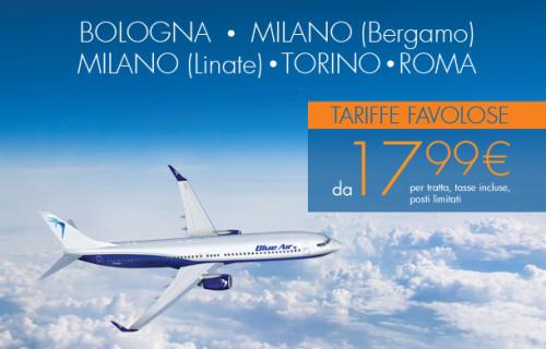Promo Blue Air voli low cost per Bucarest