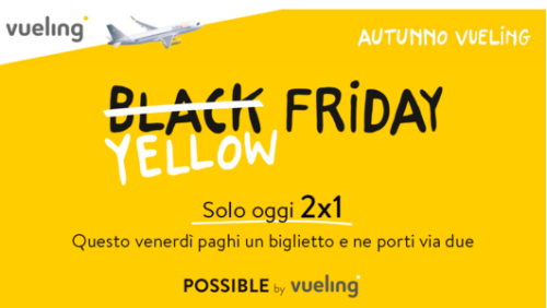 Promo Yellow Friday Vueling